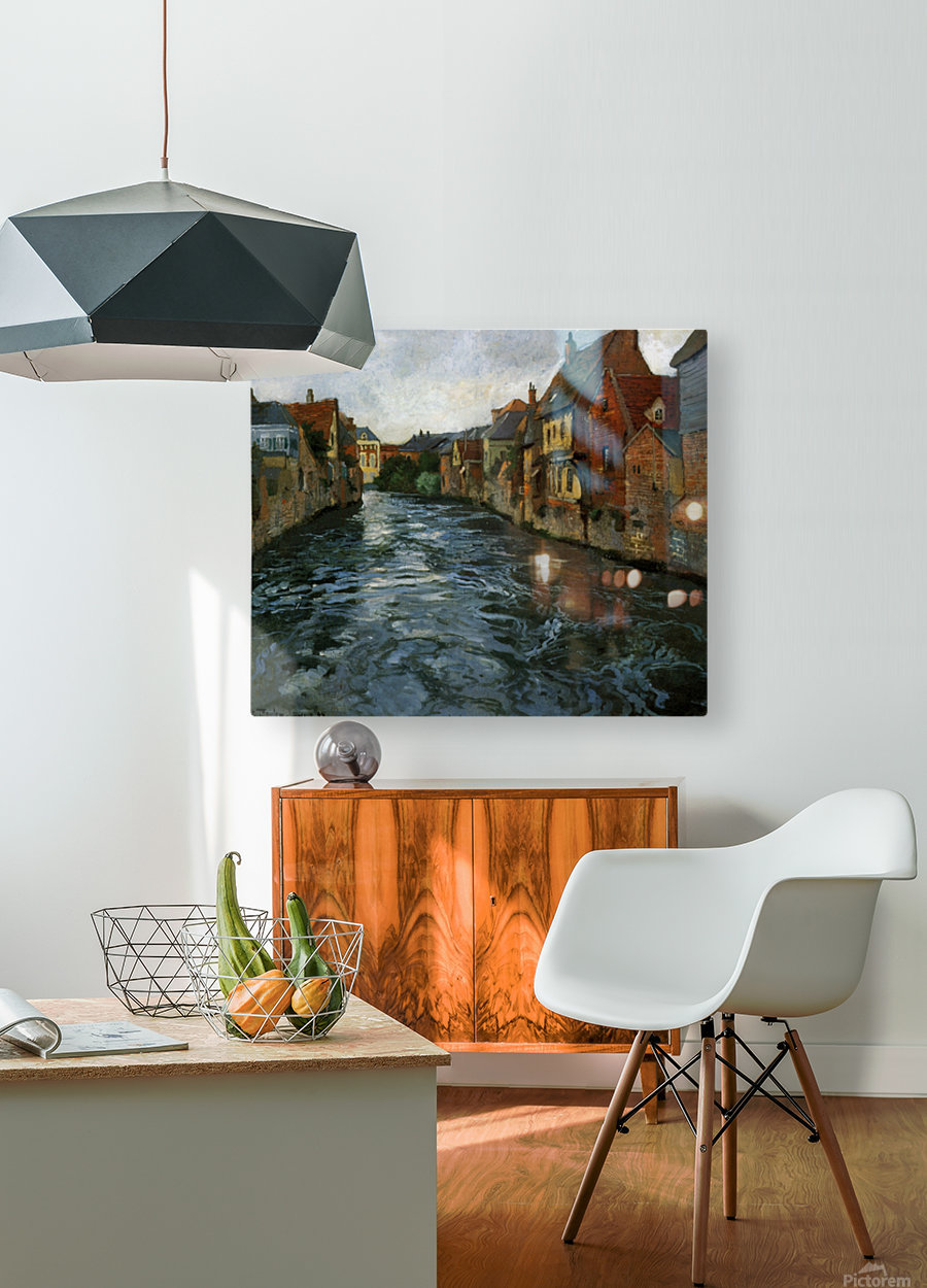 Riverside, View of Abbeville  HD Metal print with Floating Frame on Back