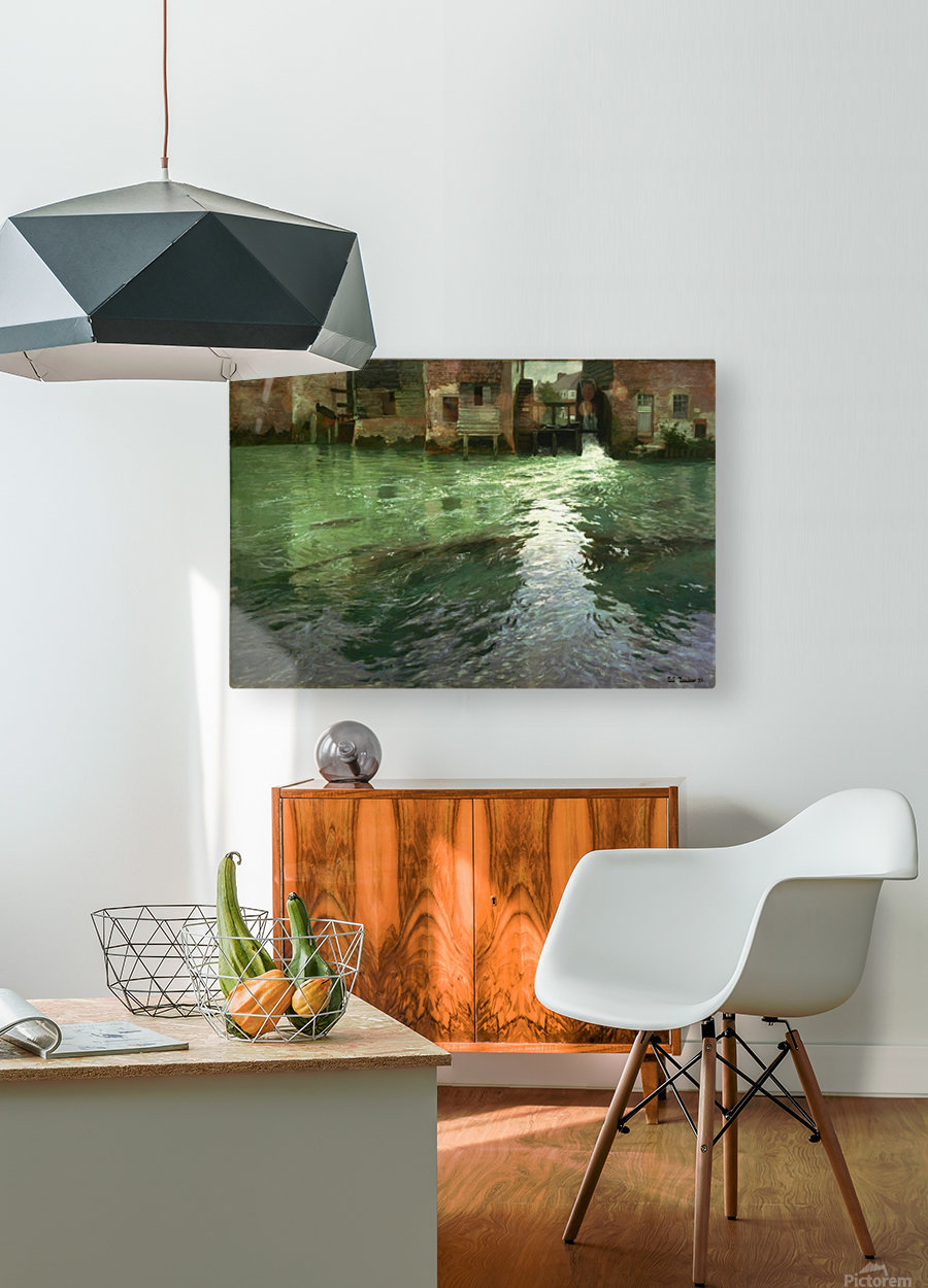 Water Mill  HD Metal print with Floating Frame on Back