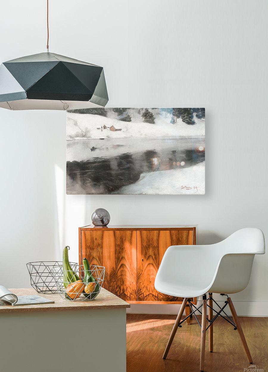 Blaafarveverket  HD Metal print with Floating Frame on Back
