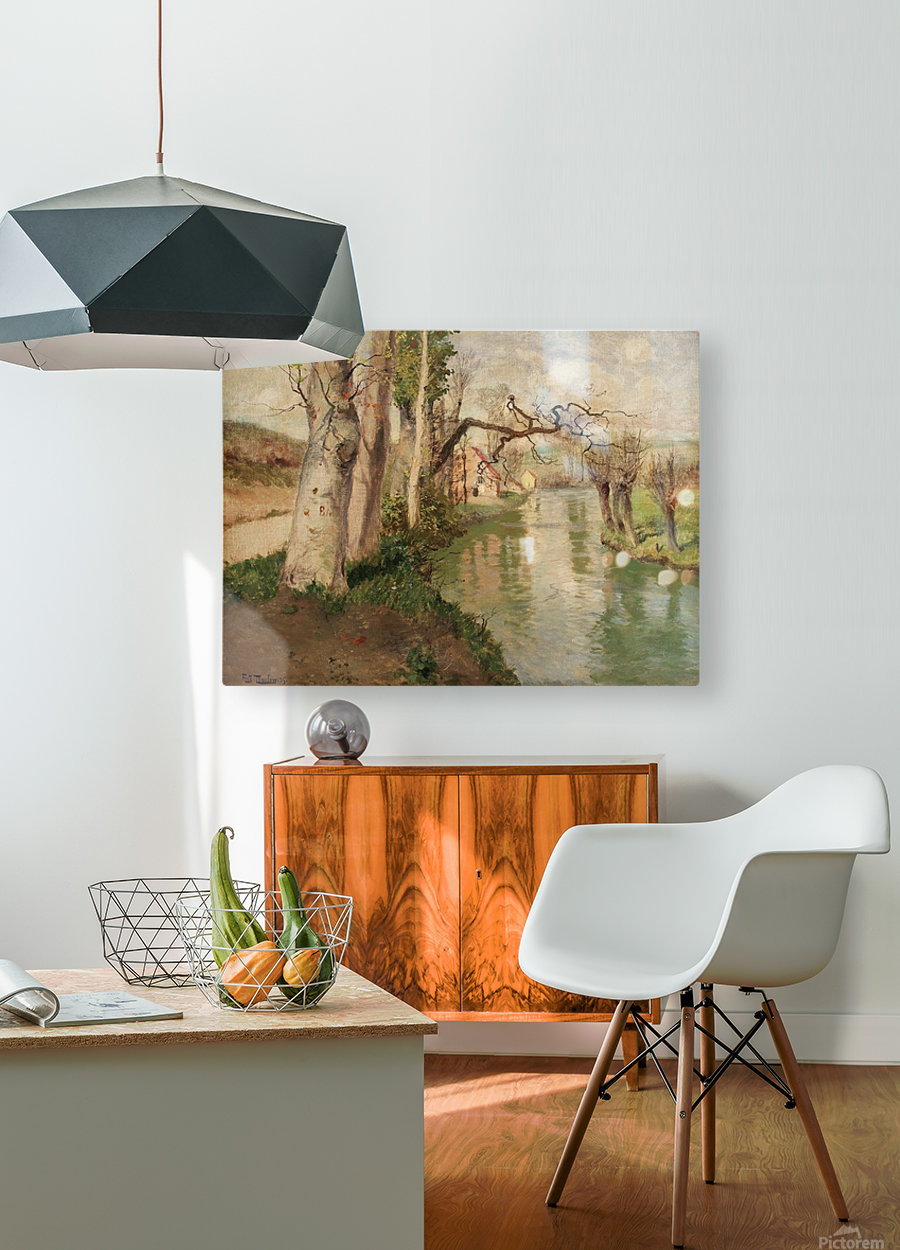 From Dieppe to Arques River  HD Metal print with Floating Frame on Back