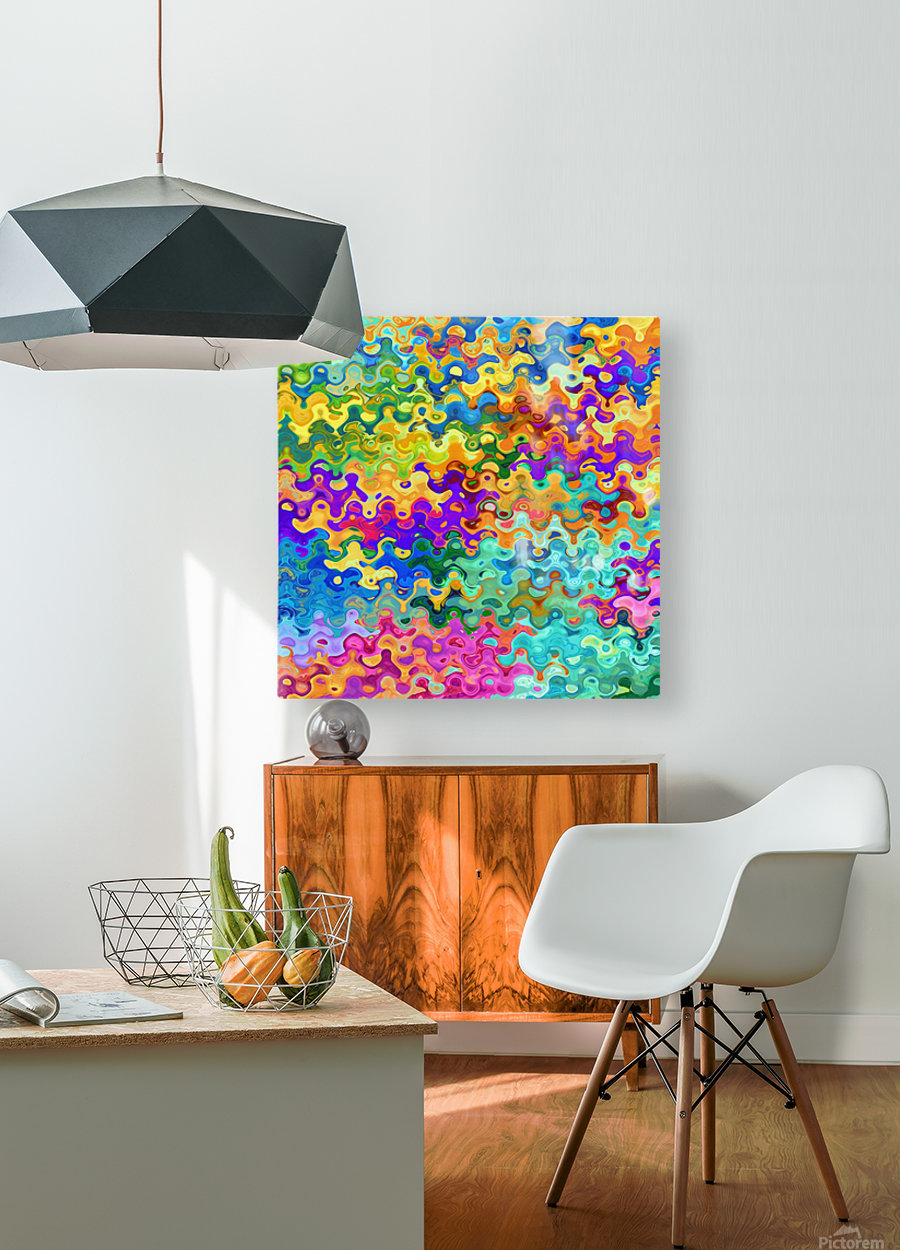 Colorful Abstraction  HD Metal print with Floating Frame on Back