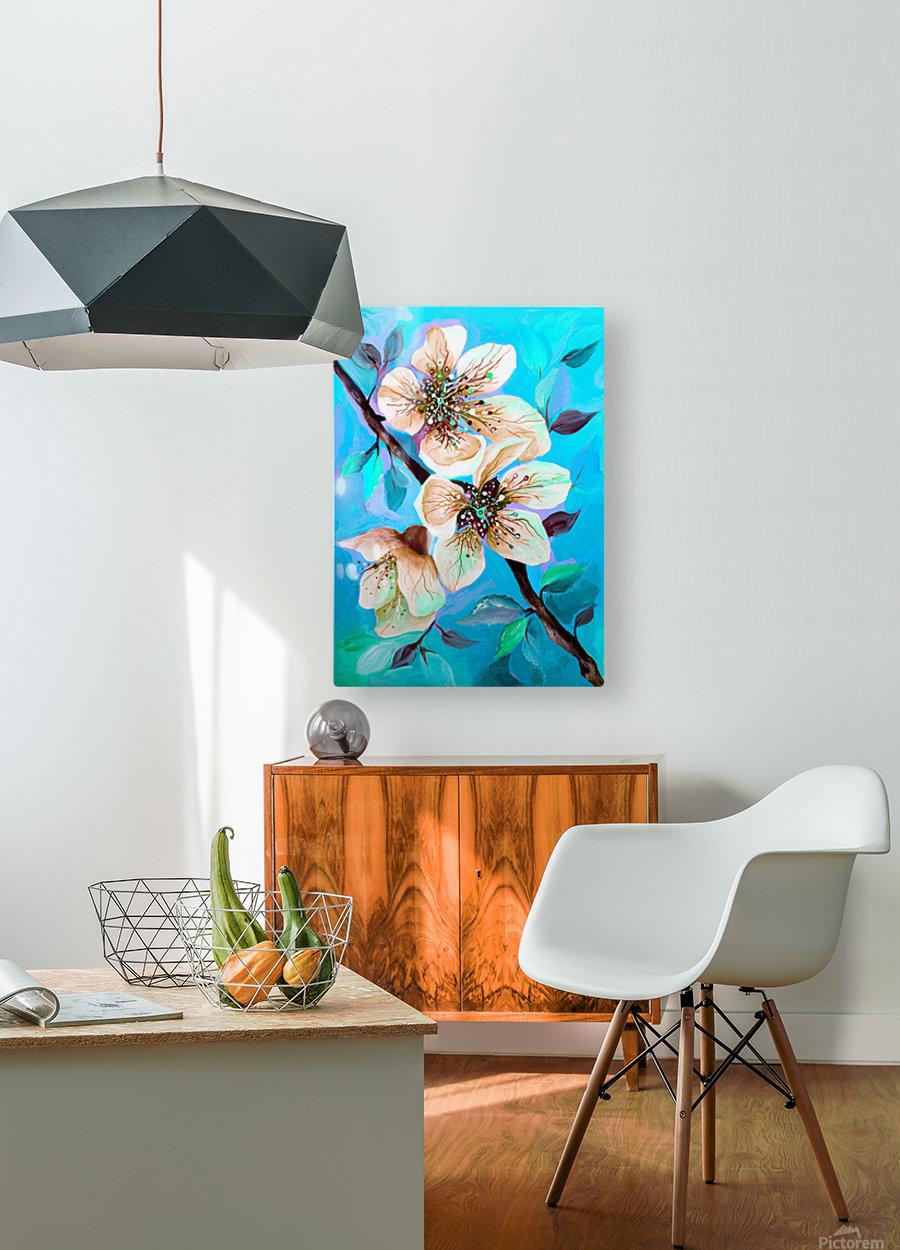 Japanese Sakura Cherry Blossom   HD Metal print with Floating Frame on Back
