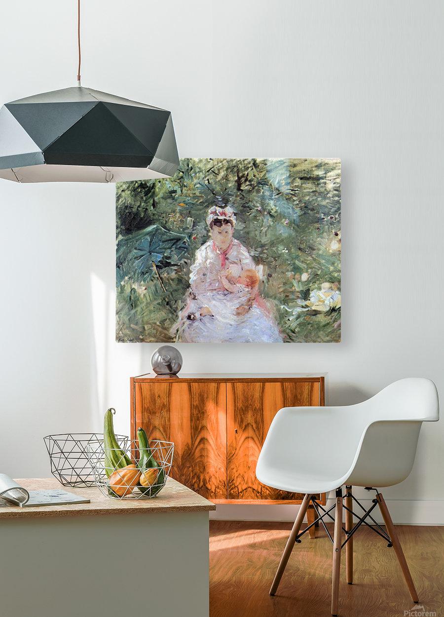 Julie Manet by Morisot  HD Metal print with Floating Frame on Back