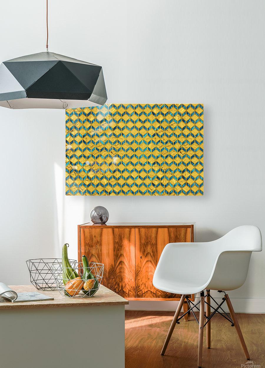 Geometric  XXXXX   HD Metal print with Floating Frame on Back