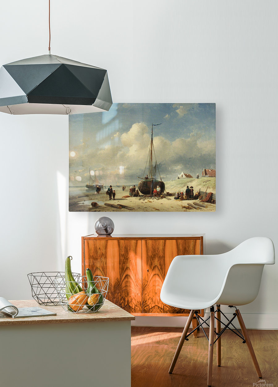 Repairing the Boat  HD Metal print with Floating Frame on Back