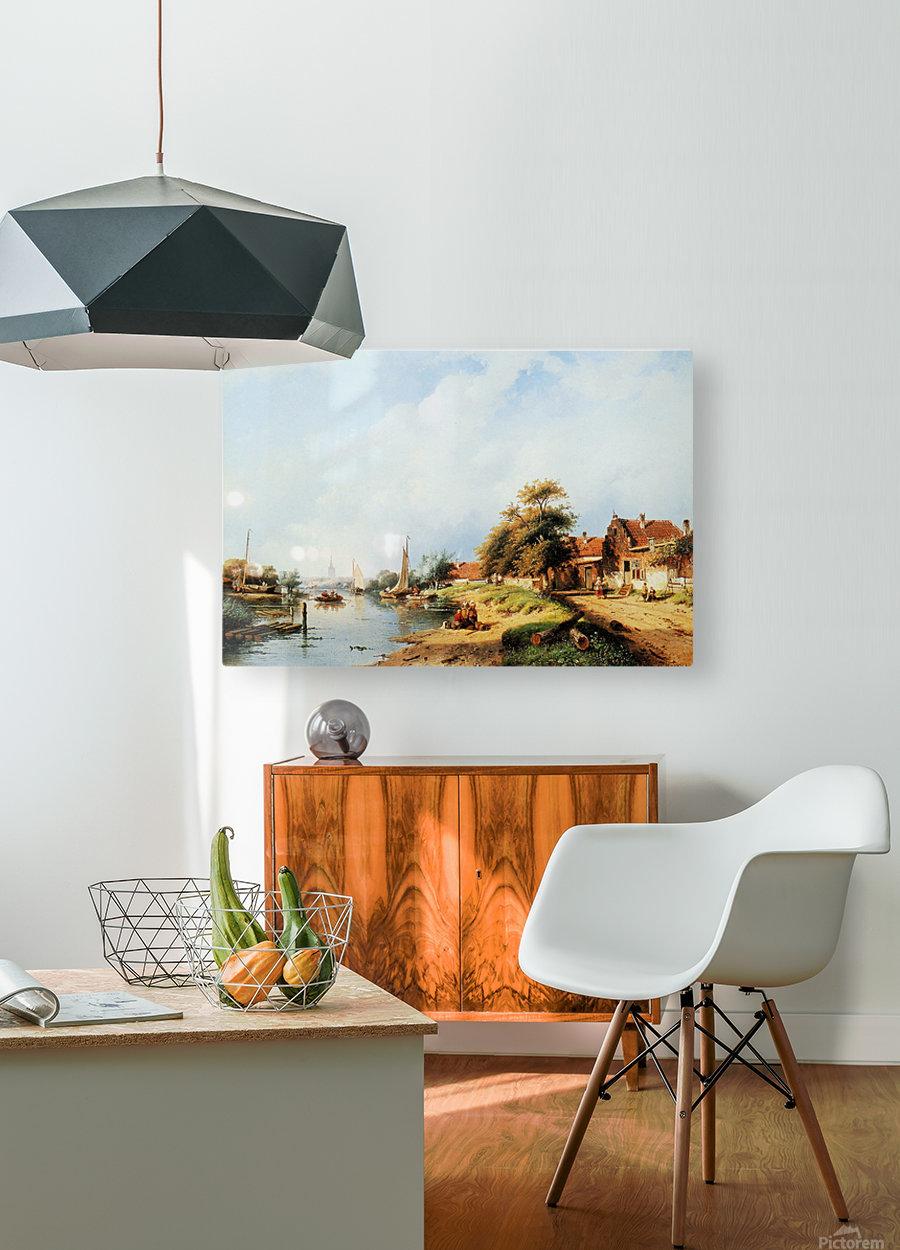 Summer river landscape  HD Metal print with Floating Frame on Back