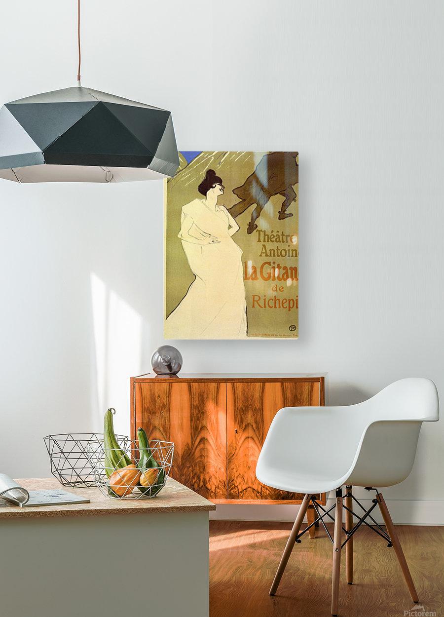 La Gitane de Rechepin by Toulouse-Lautrec  HD Metal print with Floating Frame on Back
