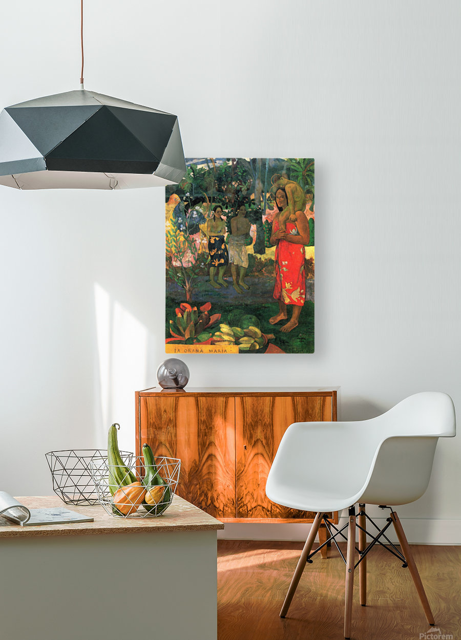 La Orana by Gauguin  HD Metal print with Floating Frame on Back