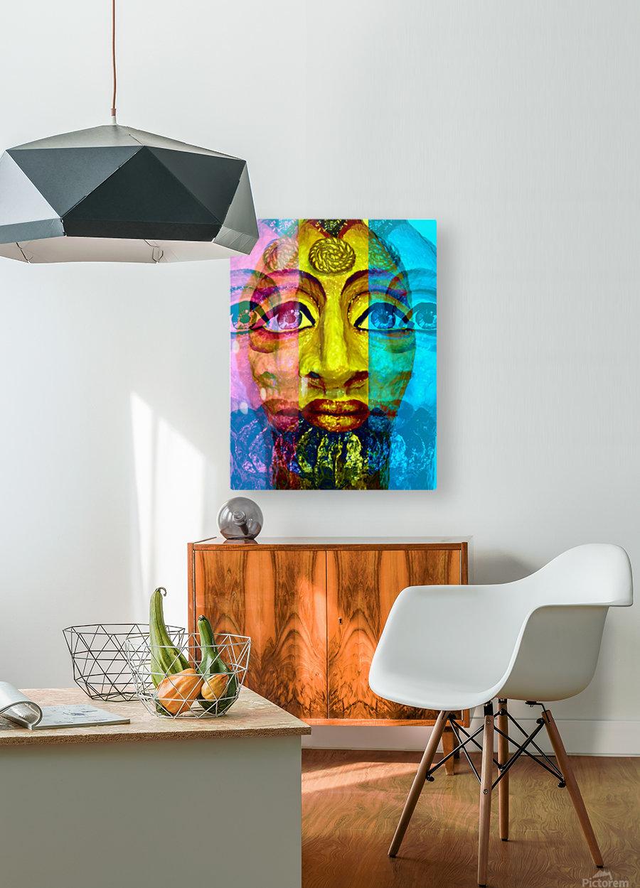 Ancient Egyptian Goddess   HD Metal print with Floating Frame on Back