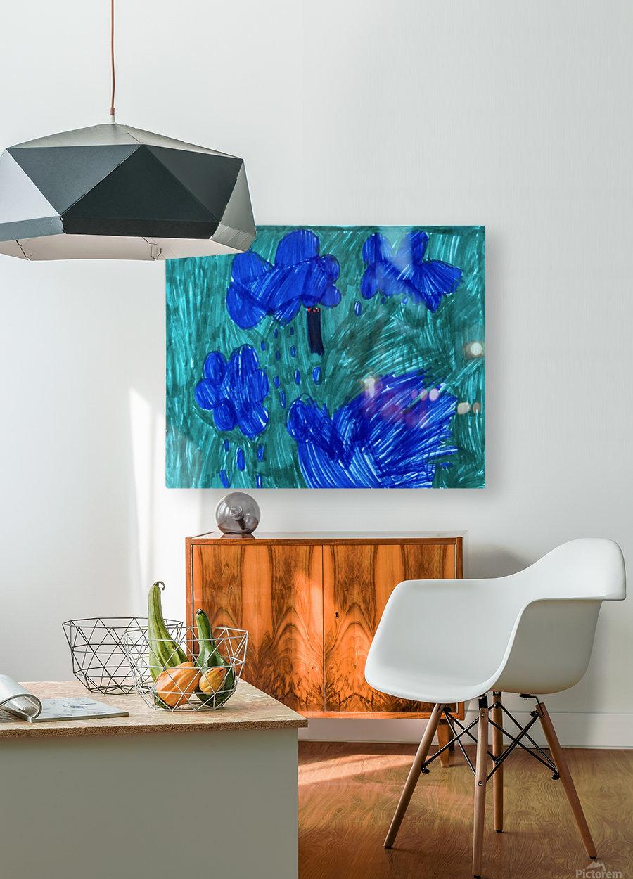 Nola rain  HD Metal print with Floating Frame on Back