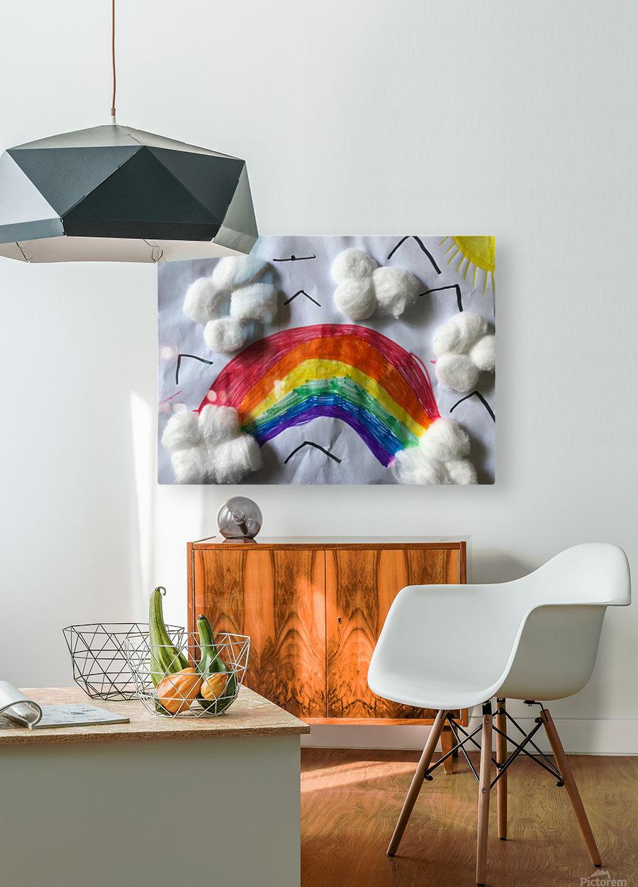 Nola rainbow  HD Metal print with Floating Frame on Back