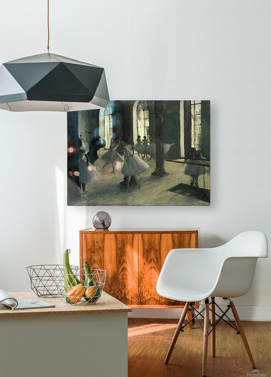 La Repetition au foyer de la danse by Degas  HD Metal print with Floating Frame on Back