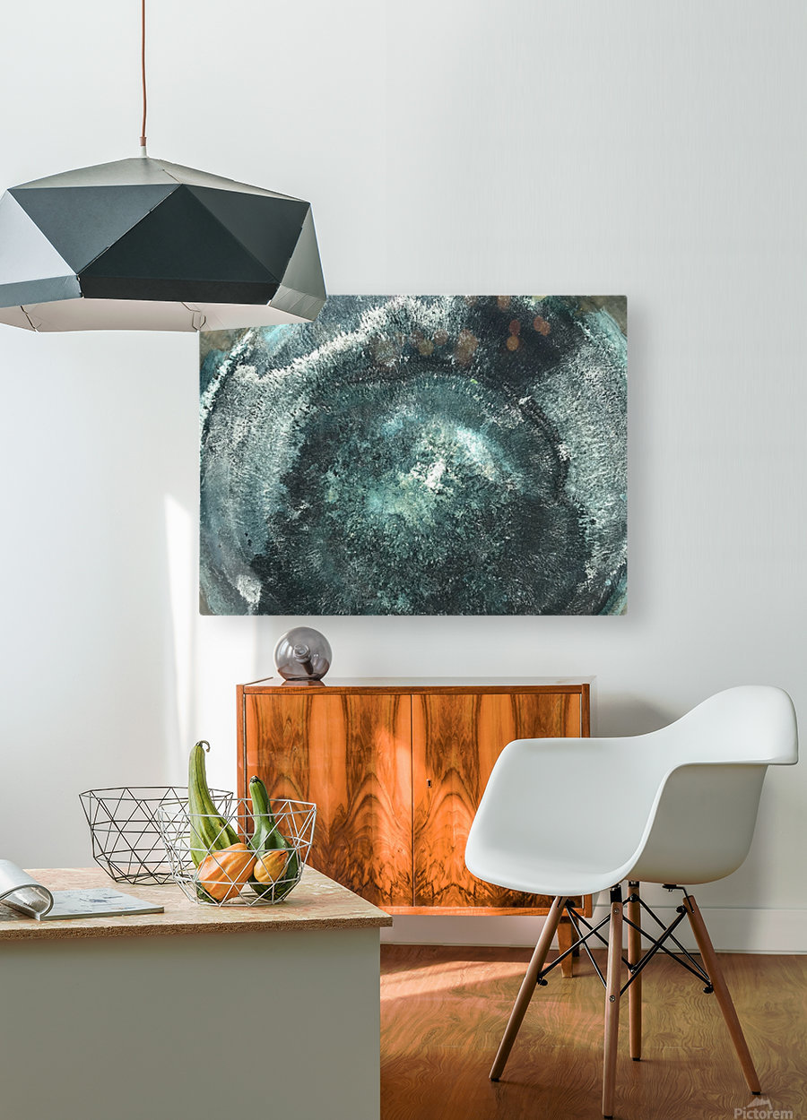 Crystal Midnights in Indigo  HD Metal print with Floating Frame on Back