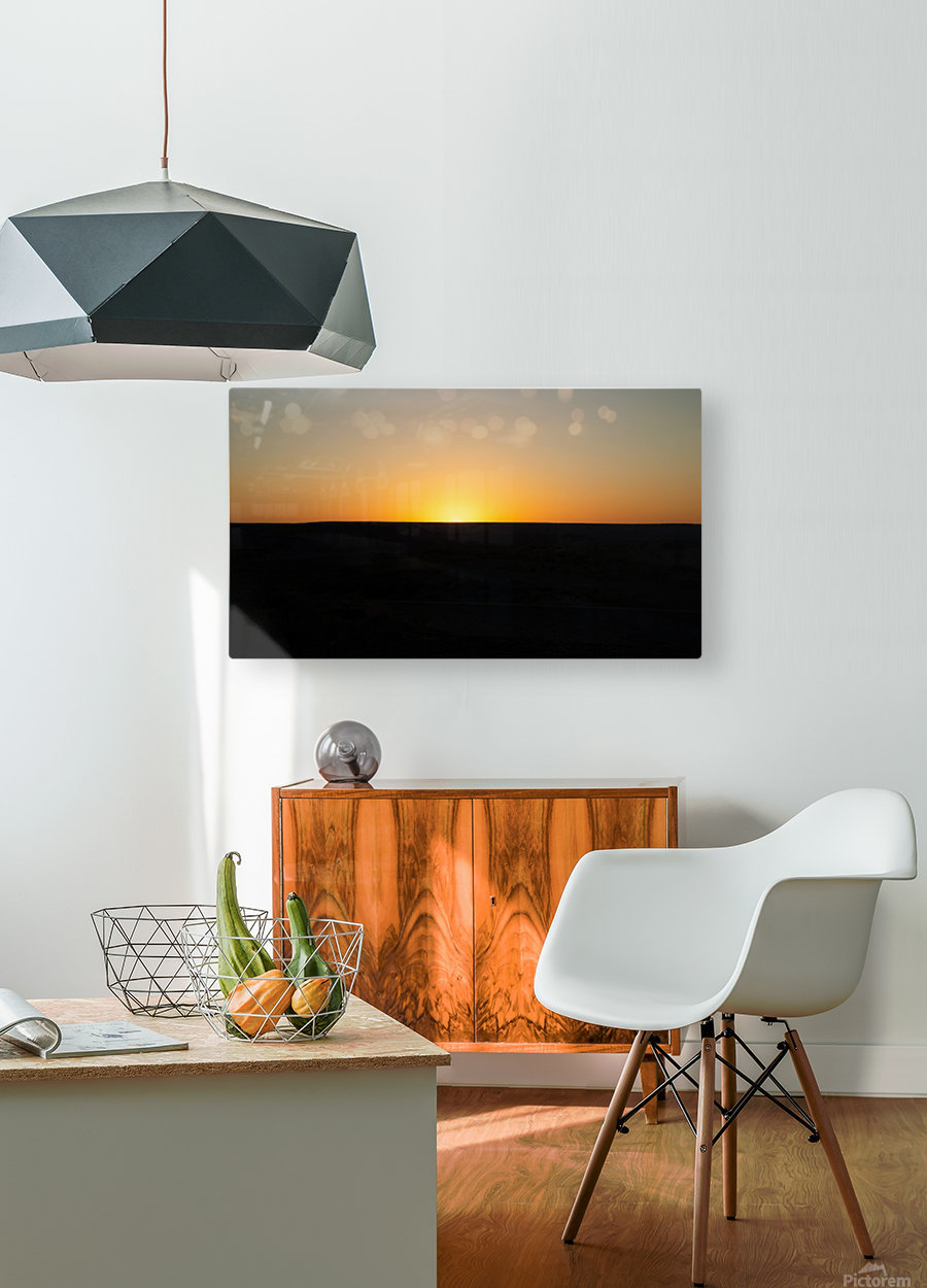 Desert Sunset  HD Metal print with Floating Frame on Back