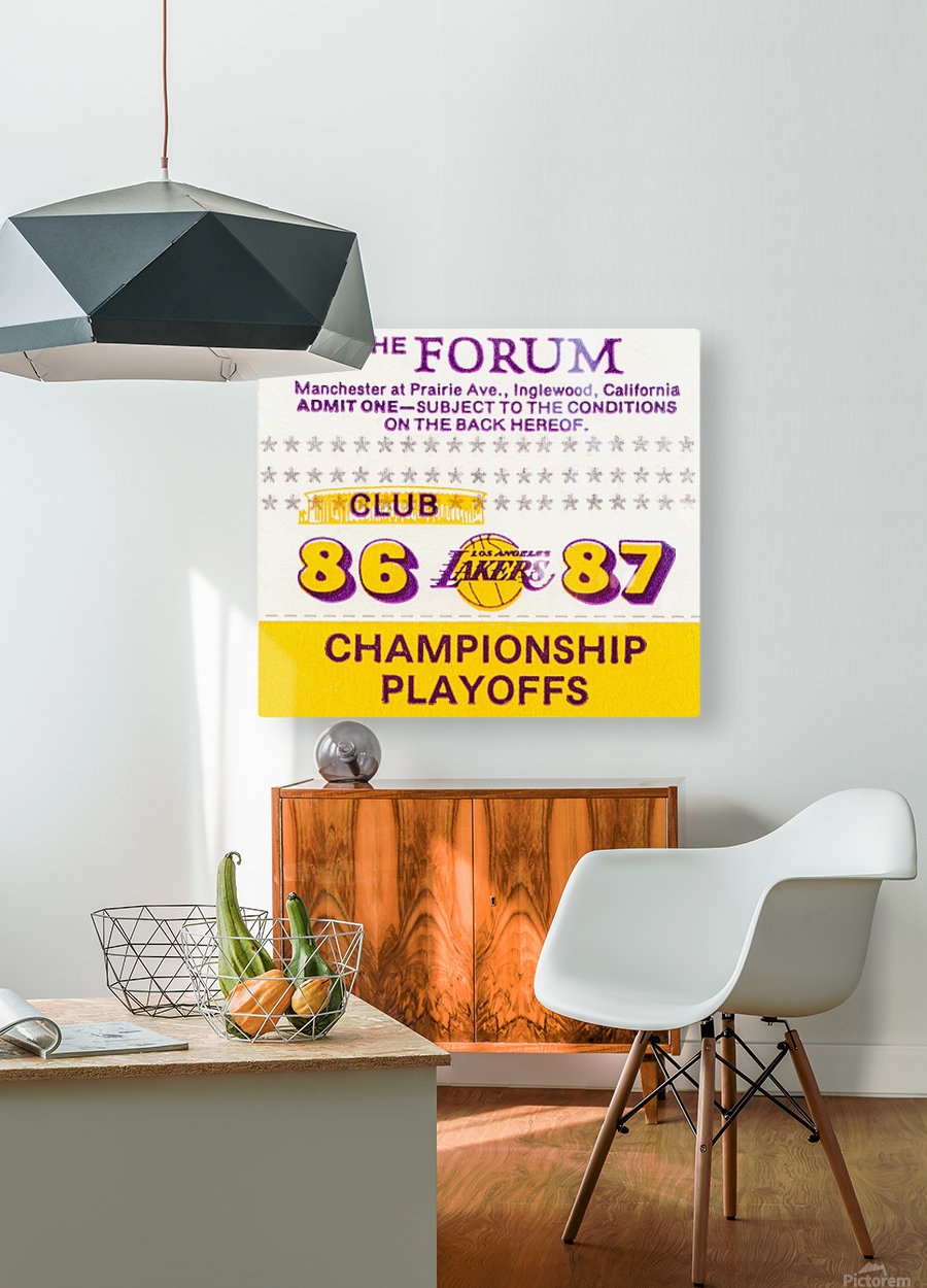 the forum inglewood california lakers gift ideas  HD Metal print with Floating Frame on Back