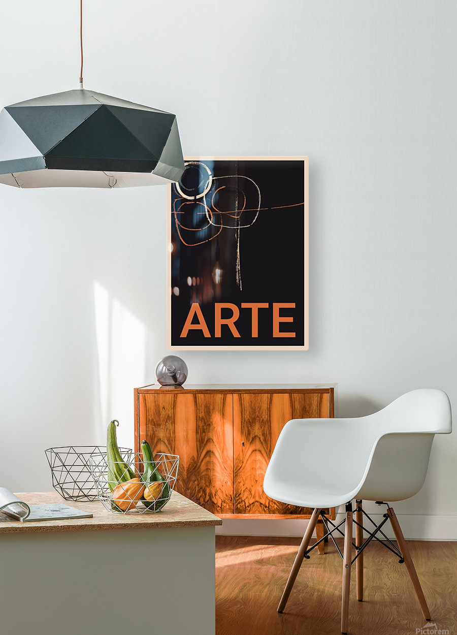 ARTE -1   HD Metal print with Floating Frame on Back