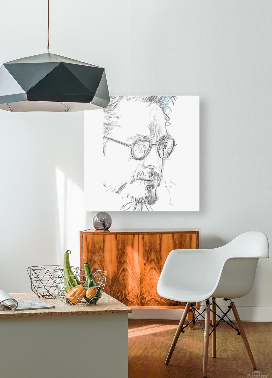 Robert Downy Jr. - Celebrity Pencil Art  Impression métal HD avec cadre flottant sur le dos