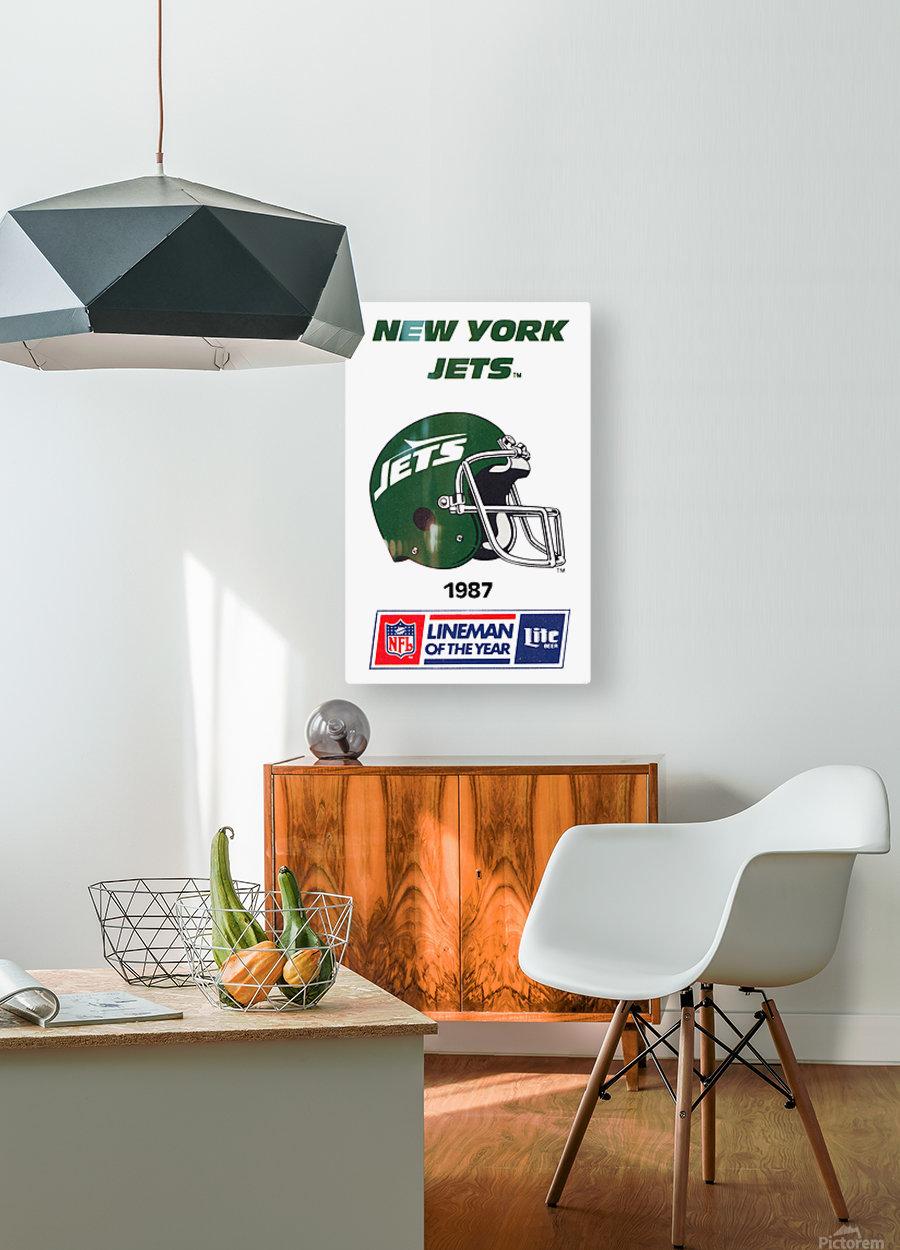 1987 new york jets vintage nfl poster  HD Metal print with Floating Frame on Back