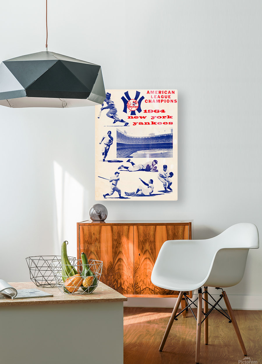 1964 new york yankees american league champions poster  HD Metal print with Floating Frame on Back