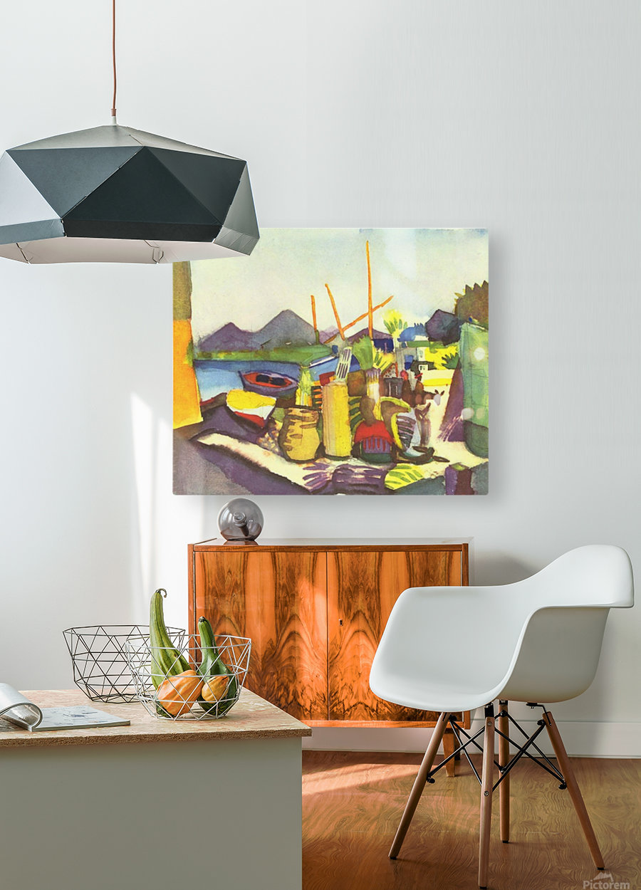 Landscape at Hammamet by Macke  HD Metal print with Floating Frame on Back