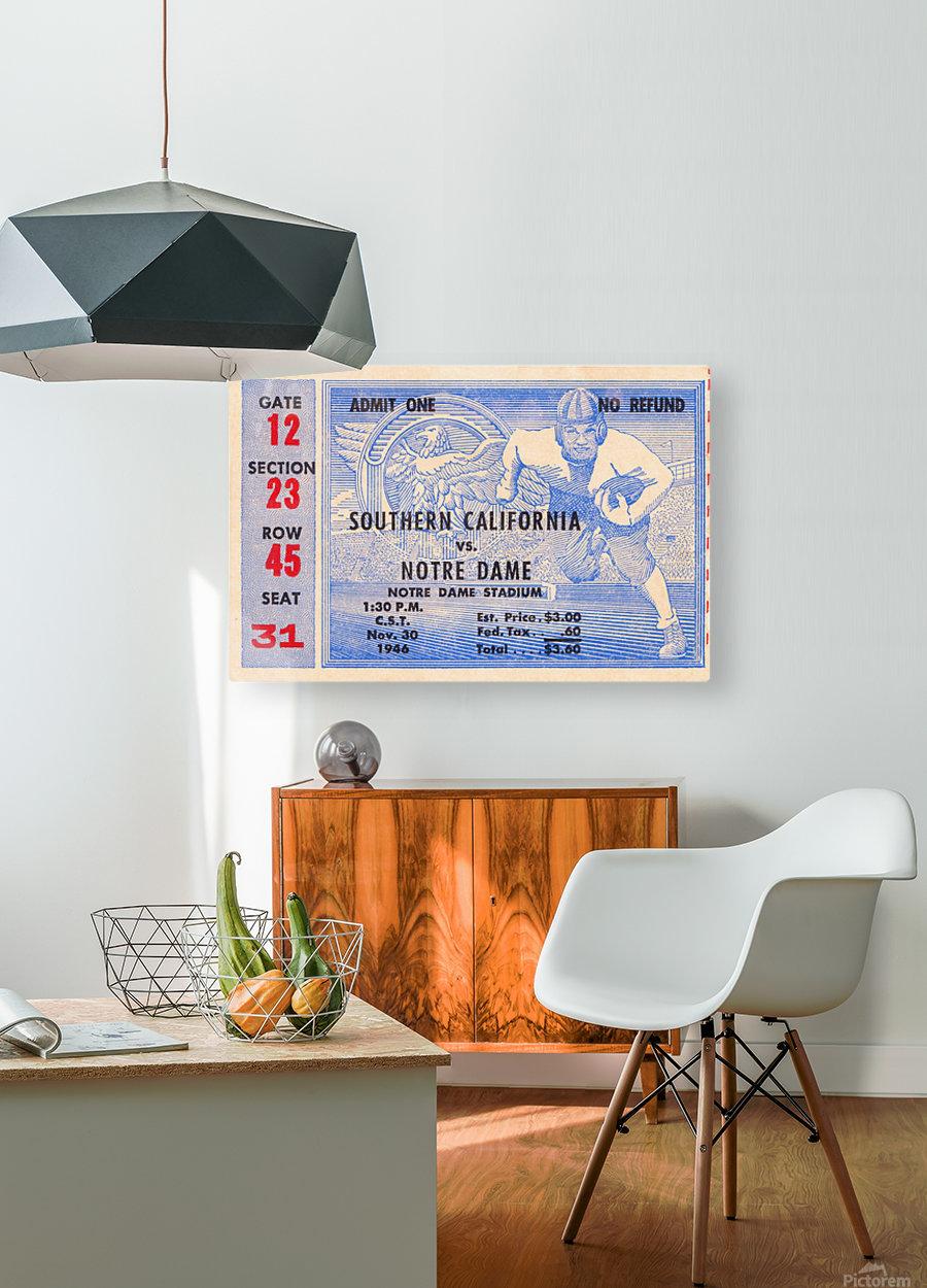 1946 notre dame southern california ticket stub framed prints  HD Metal print with Floating Frame on Back