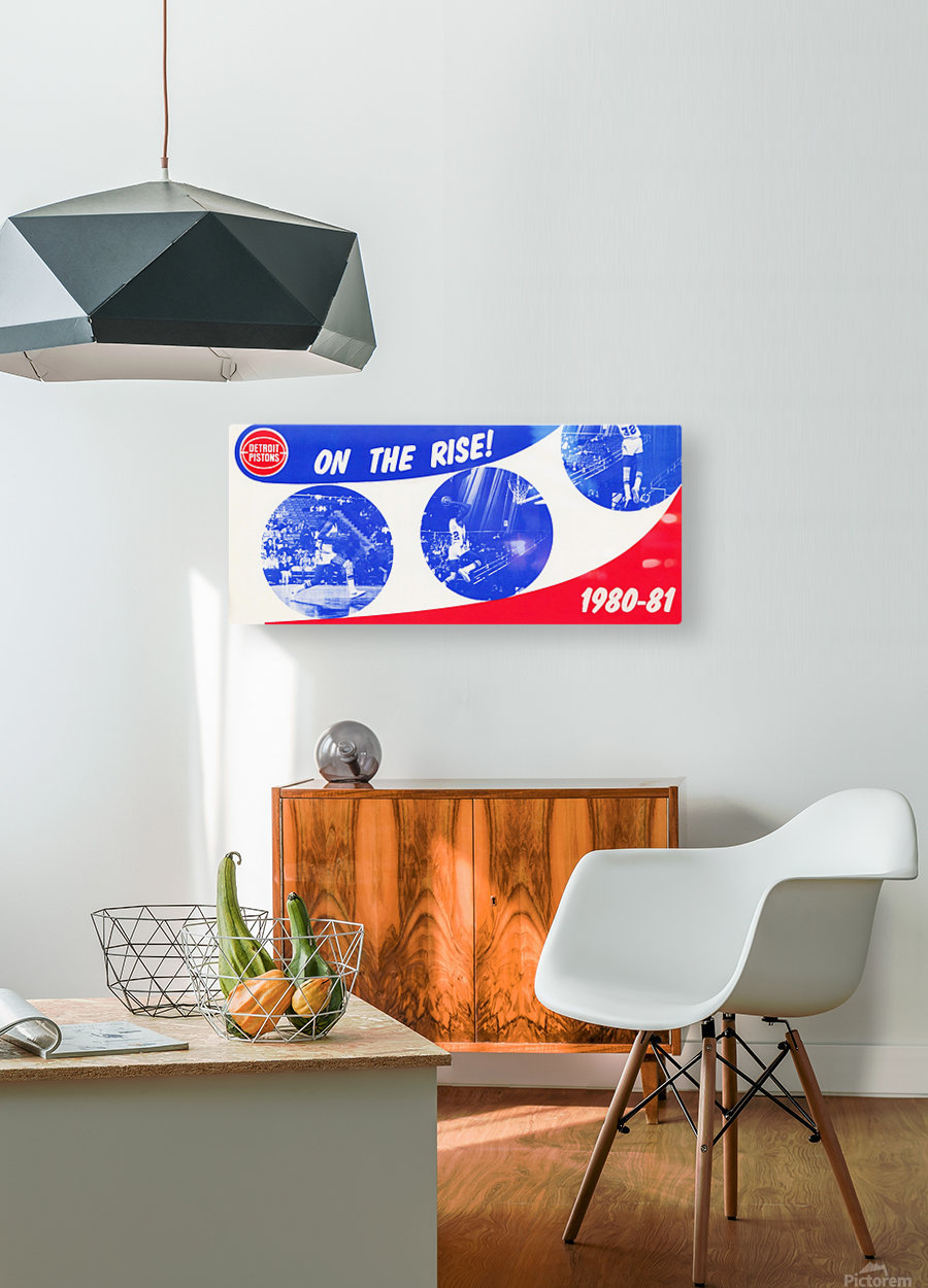 1980 detroit pistons nba basketball poster on the rise  HD Metal print with Floating Frame on Back