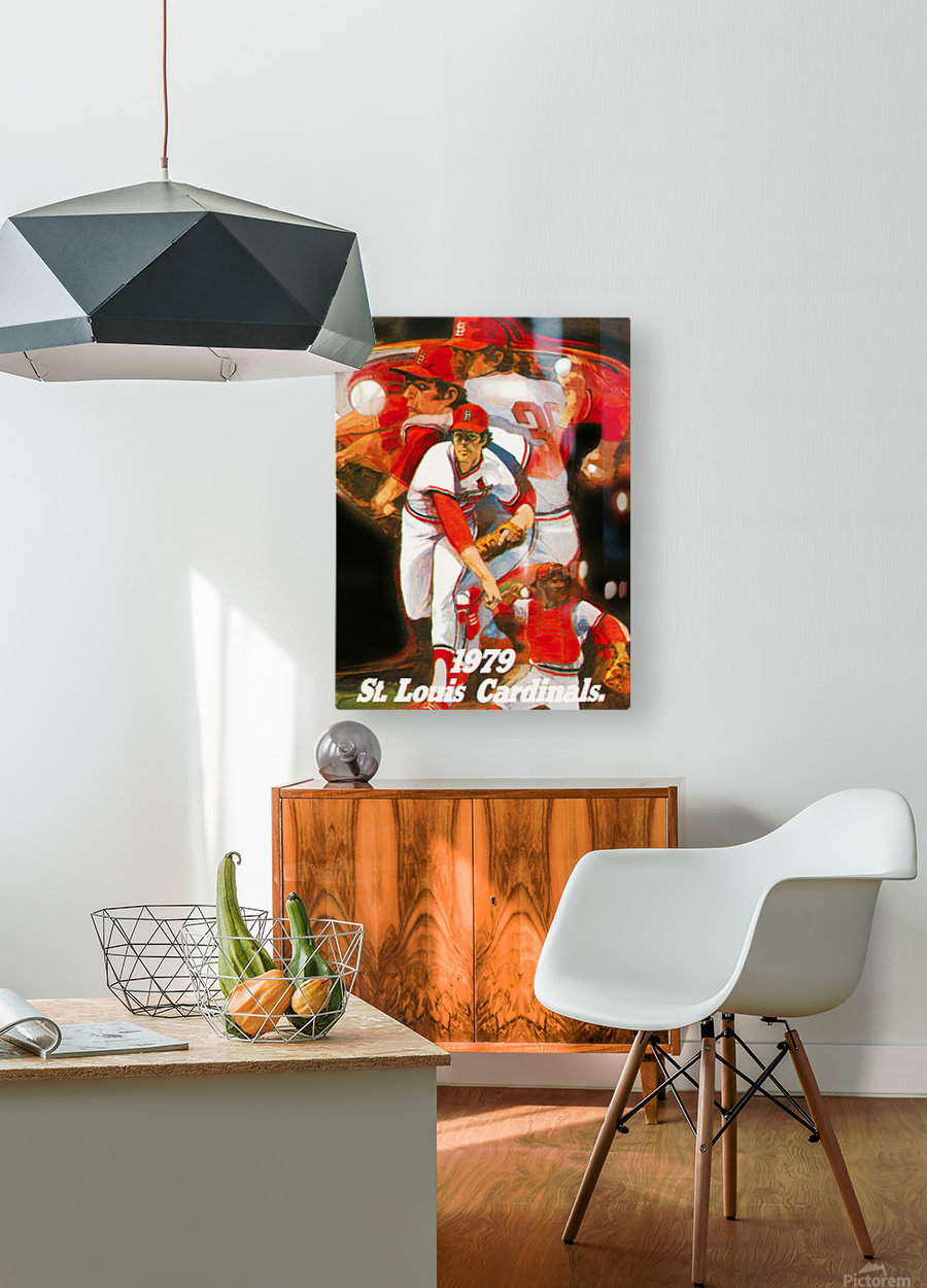 1979 st louis cardinals retro baseball poster  HD Metal print with Floating Frame on Back