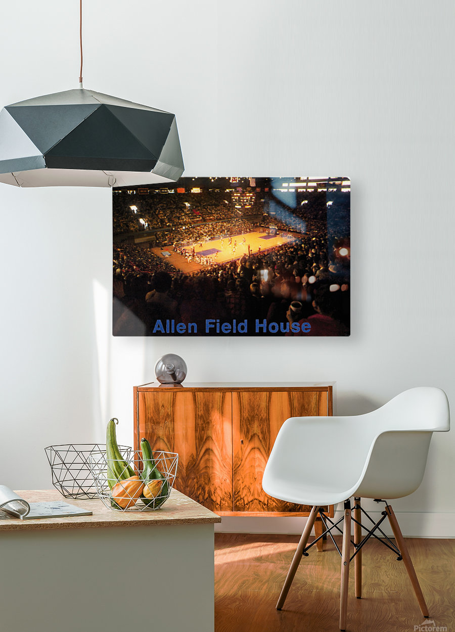 Vintage Allen Field House KU Basketball Photos  HD Metal print with Floating Frame on Back
