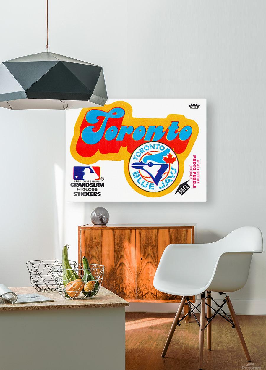 1978 toronto blue jays fleer decal baseball art reproduction poster  HD Metal print with Floating Frame on Back