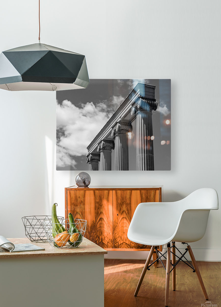 KIng West Columns  HD Metal print with Floating Frame on Back