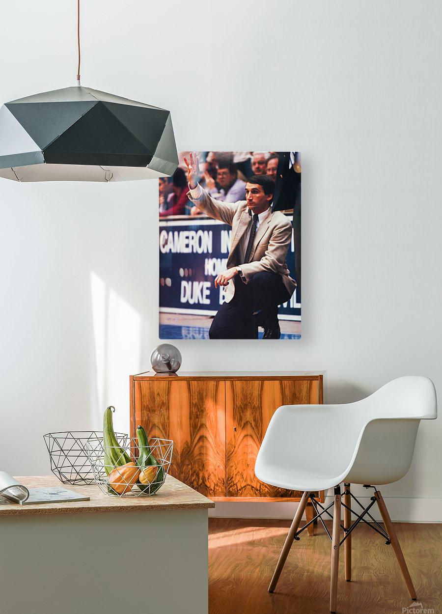 college basketball art coach k duke university basketball poster  HD Metal print with Floating Frame on Back