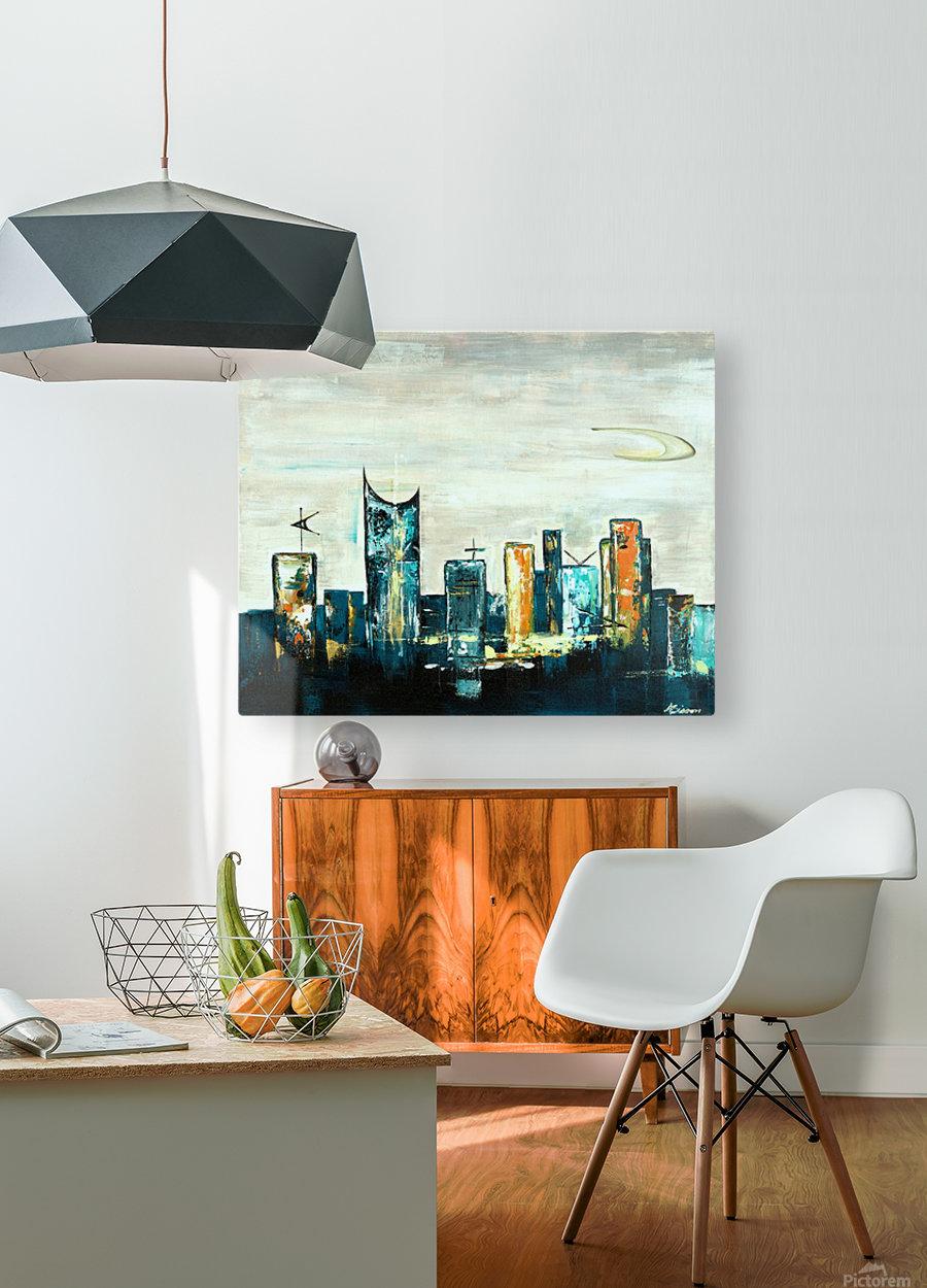 Uptown V  HD Metal print with Floating Frame on Back