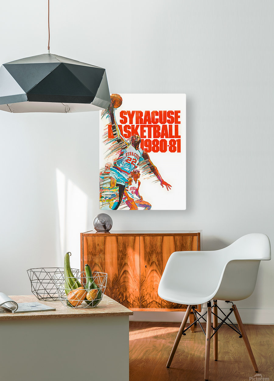 1980 syracuse orange basketball poster  HD Metal print with Floating Frame on Back