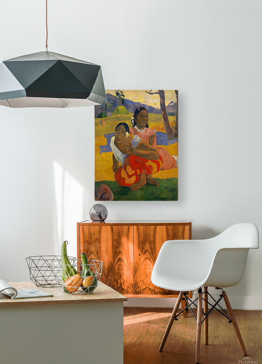 Paul Gauguin: When Will You Marry HD 300ppi  HD Metal print with Floating Frame on Back