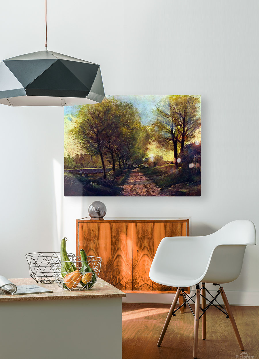 Lane near a small Town by Sisley  HD Metal print with Floating Frame on Back