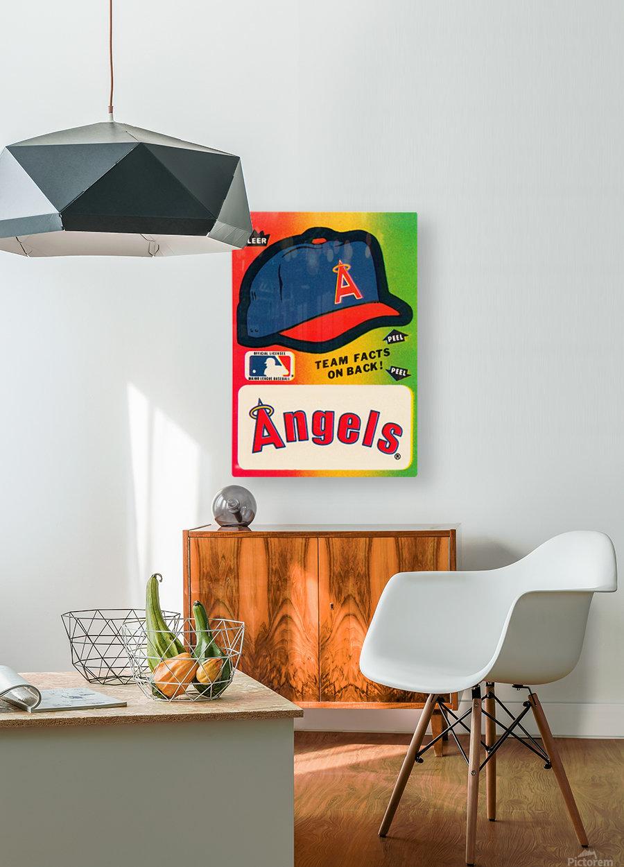 1983 fleer baseball sticker california angels poster  HD Metal print with Floating Frame on Back
