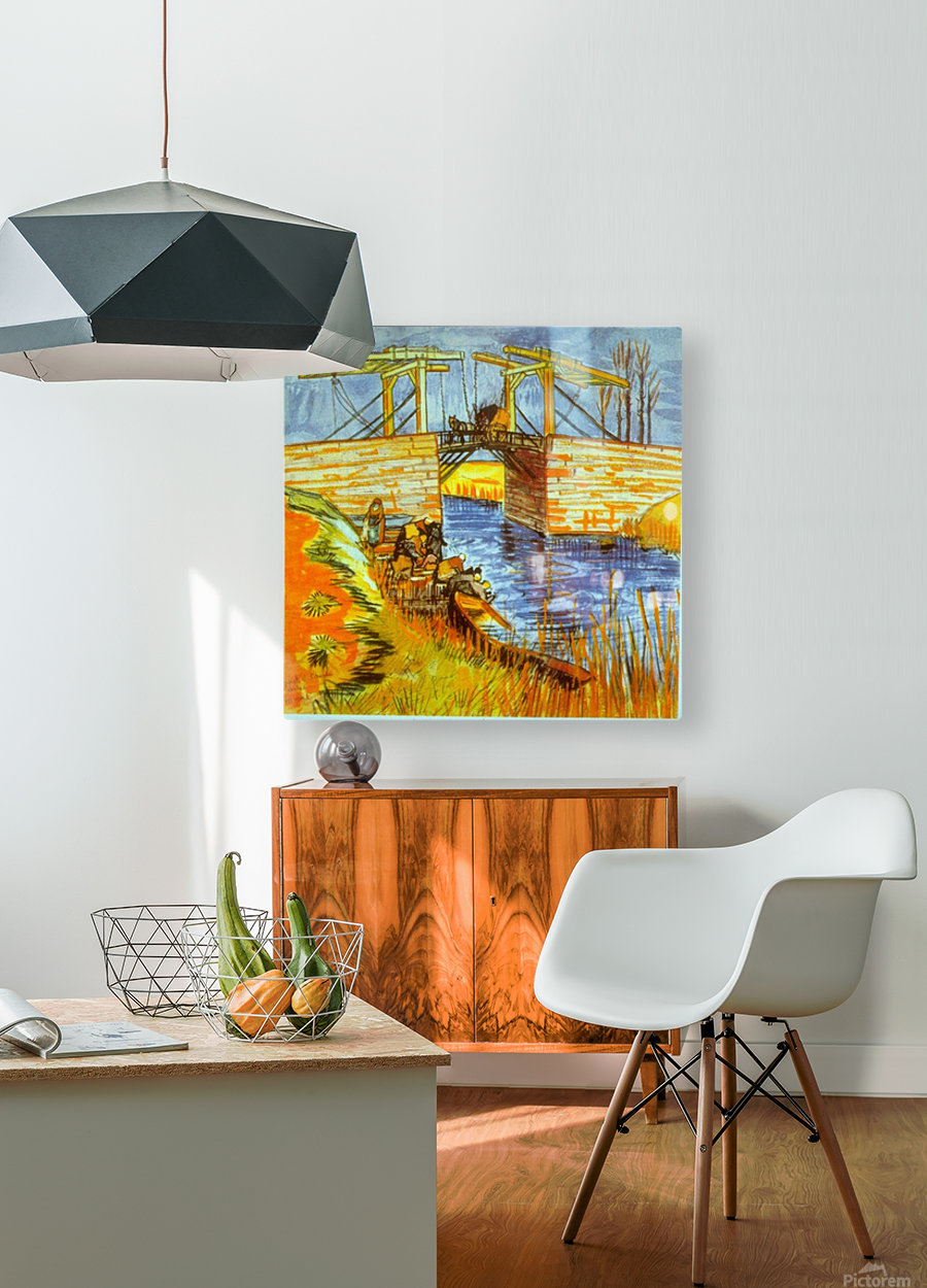 Langlois by Van Gogh  HD Metal print with Floating Frame on Back
