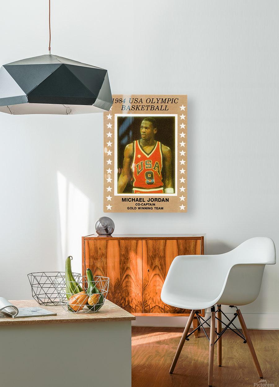 1984 usa olympic basketball gold medal michael jordan wood print  HD Metal print with Floating Frame on Back