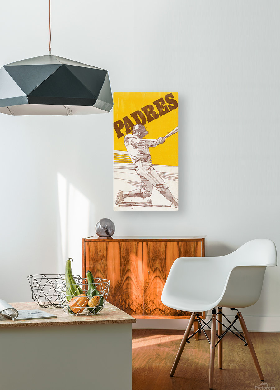 1974 san diego padres art reproduction  HD Metal print with Floating Frame on Back