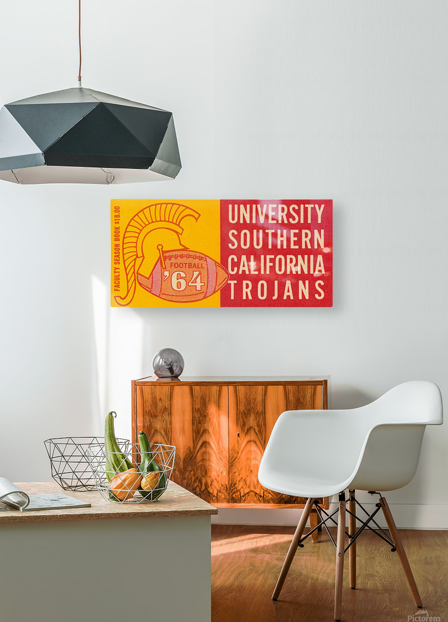usc university of southern california trojans football art 1964  HD Metal print with Floating Frame on Back