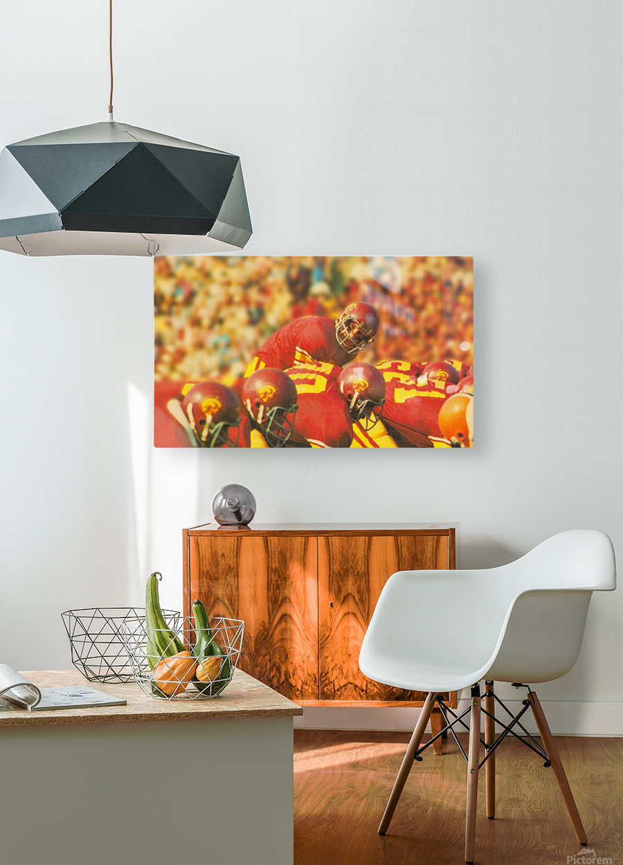 row one brand vintage 1976 national champions usc football art  HD Metal print with Floating Frame on Back