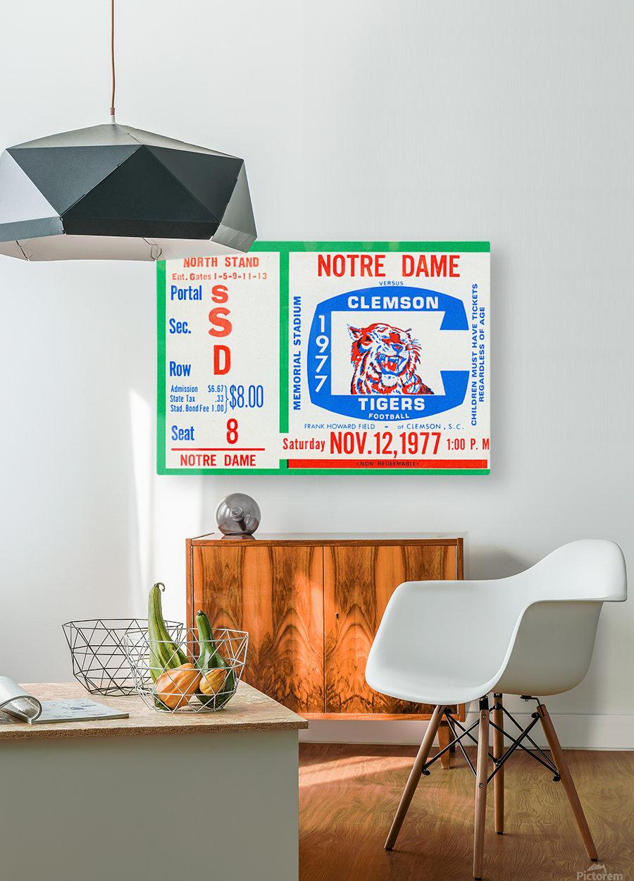 1977 Notre Dame vs. Clemson  HD Metal print with Floating Frame on Back