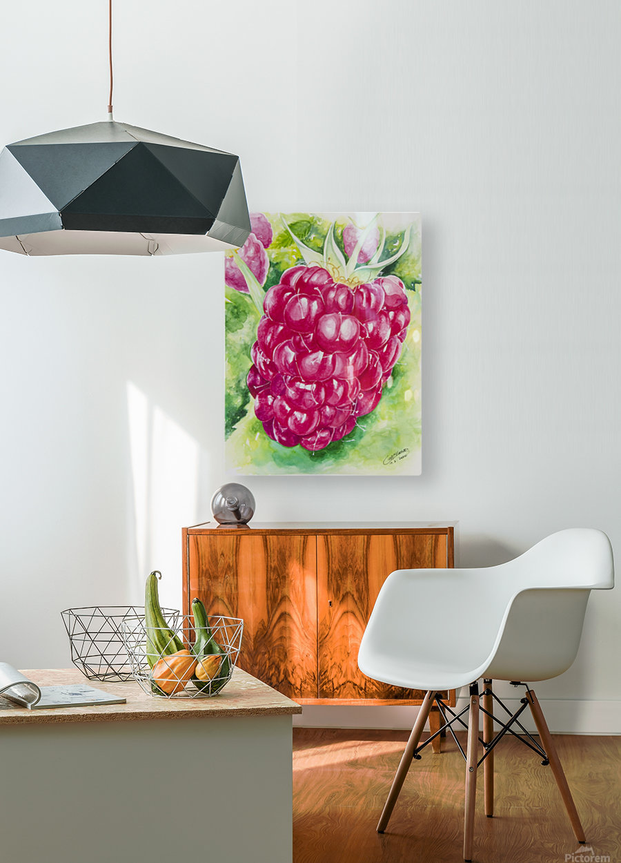 Summer Flavor: Raspberry I  HD Metal print with Floating Frame on Back