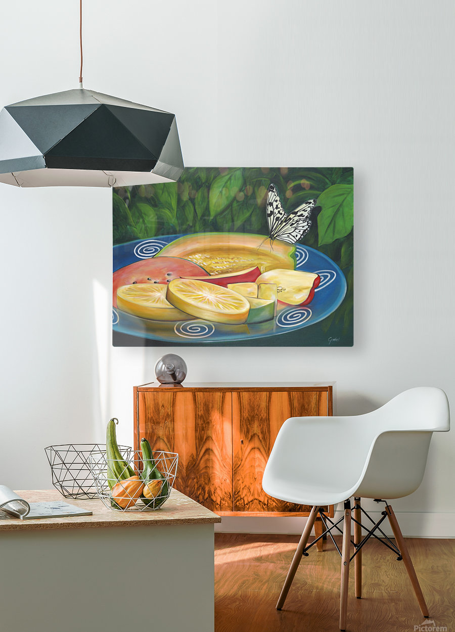 feast  HD Metal print with Floating Frame on Back