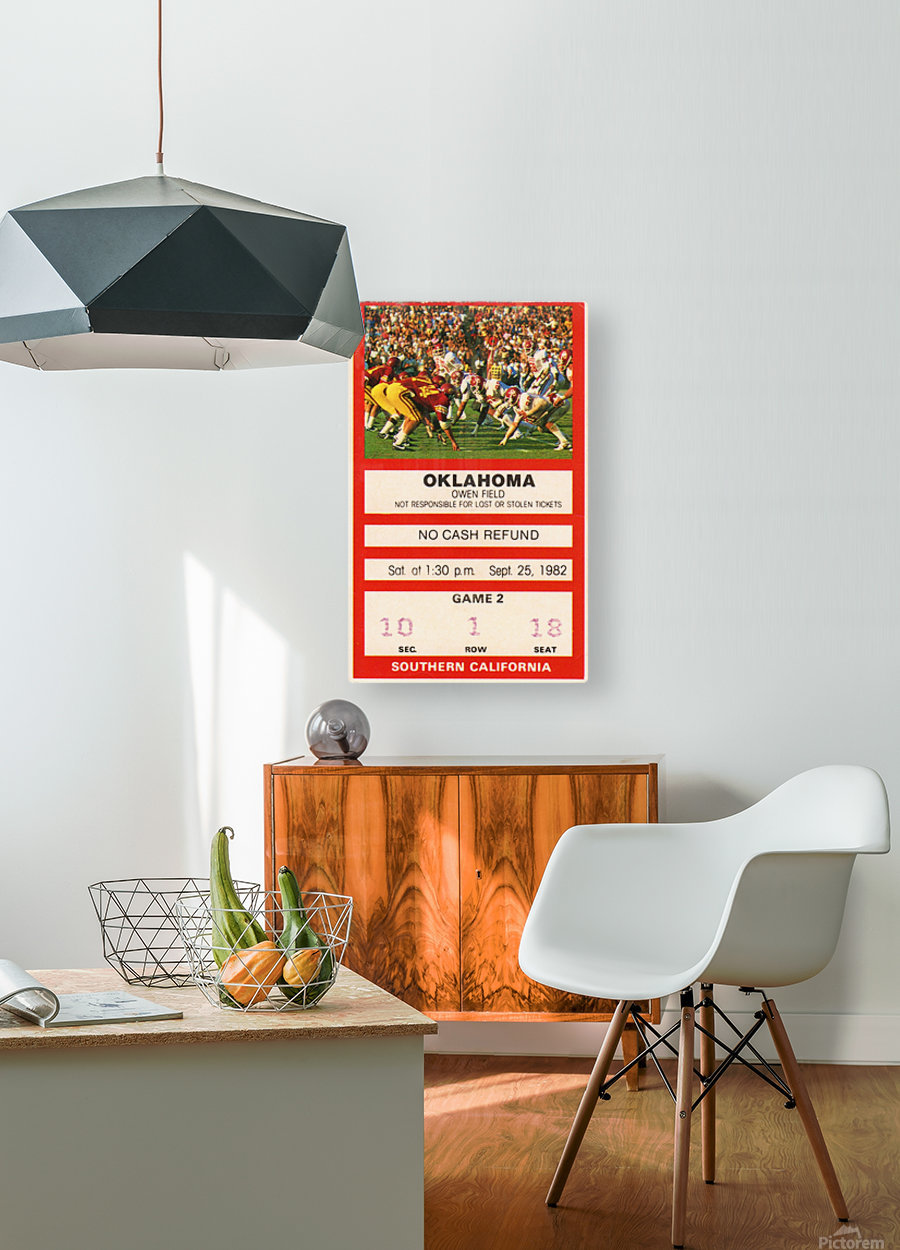 1982 USC vs. Oklahoma  HD Metal print with Floating Frame on Back