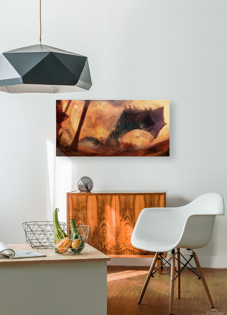Dune World  HD Metal print with Floating Frame on Back