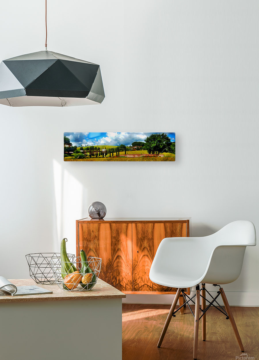 Cypress View Umbria  HD Metal print with Floating Frame on Back
