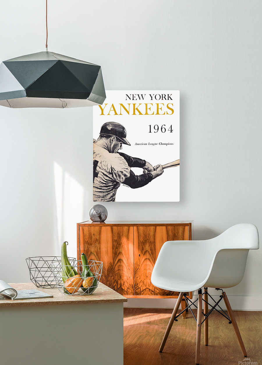 1964 new york yankees art (1)  HD Metal print with Floating Frame on Back
