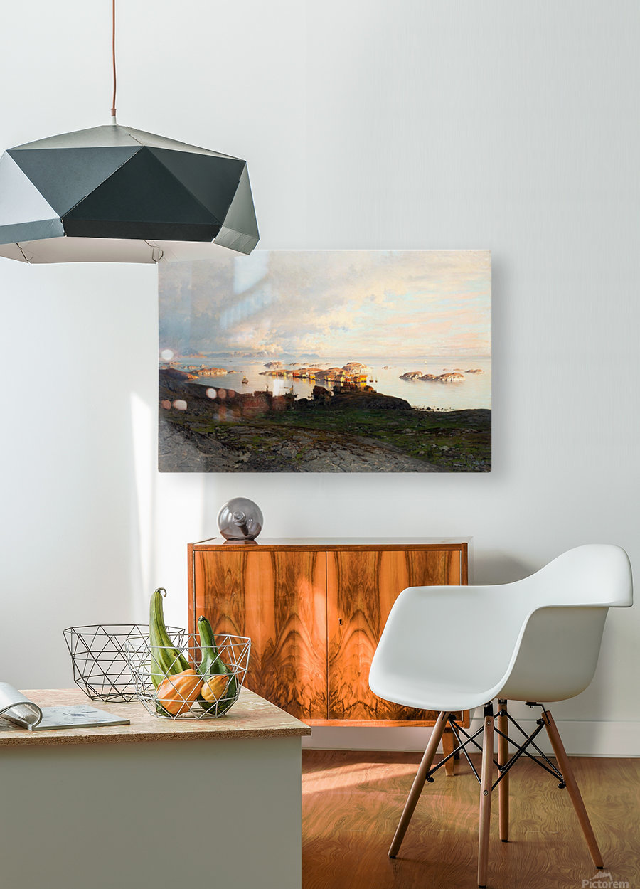 Summer night in Lofoten  HD Metal print with Floating Frame on Back
