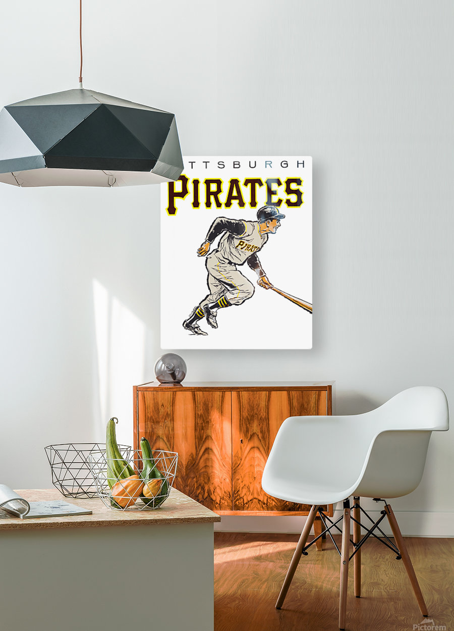 vintage pittsburgh pirates wall art  HD Metal print with Floating Frame on Back
